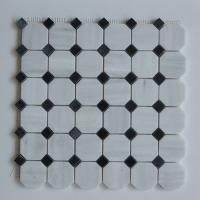 Buy cheap Arabescato Carrara White Italian Stone Mosaic Tile With Octagon Black Dots from wholesalers