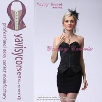 Buy cheap office lady black sexy corset sexy photos fat women fashion corsets from wholesalers