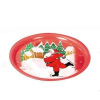 Buy cheap Round Christmas Print Serving Tin Trays product