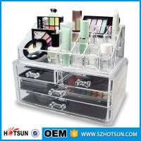 Buy cheap Acrylic Cosmetic Storage Display Boxes, Wholesales cosmetic organizer with drawers,hot sales acrylic makeup organizer from wholesalers