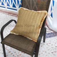 Buy cheap Faux fiber fabric,Navy and white,green,18*18 inch or customized,Raffia Sofa Cushion Covers from wholesalers