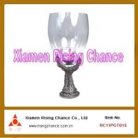 Buy cheap Glass Goblet with Pewter Patch from wholesalers