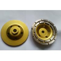 Buy cheap double row diamond cup wheel for stone abrasive and grinding, 100mm, 125mm from wholesalers