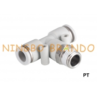 Buy cheap PT Male Branch Tee Pneumatic Quick Connect Coupling 1/8'' 1/4'' 3/8'' 1/2'' from wholesalers