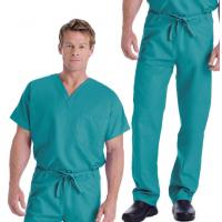 Buy cheap Unisex Scrub Set Medical Workwear 65% Polyester ,  Medical Uniform Ankle slits easy movement from wholesalers