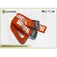 Buy cheap Heavy Duty Ratchet Nylon Cargo Straps With Buckle , Security Belt from wholesalers