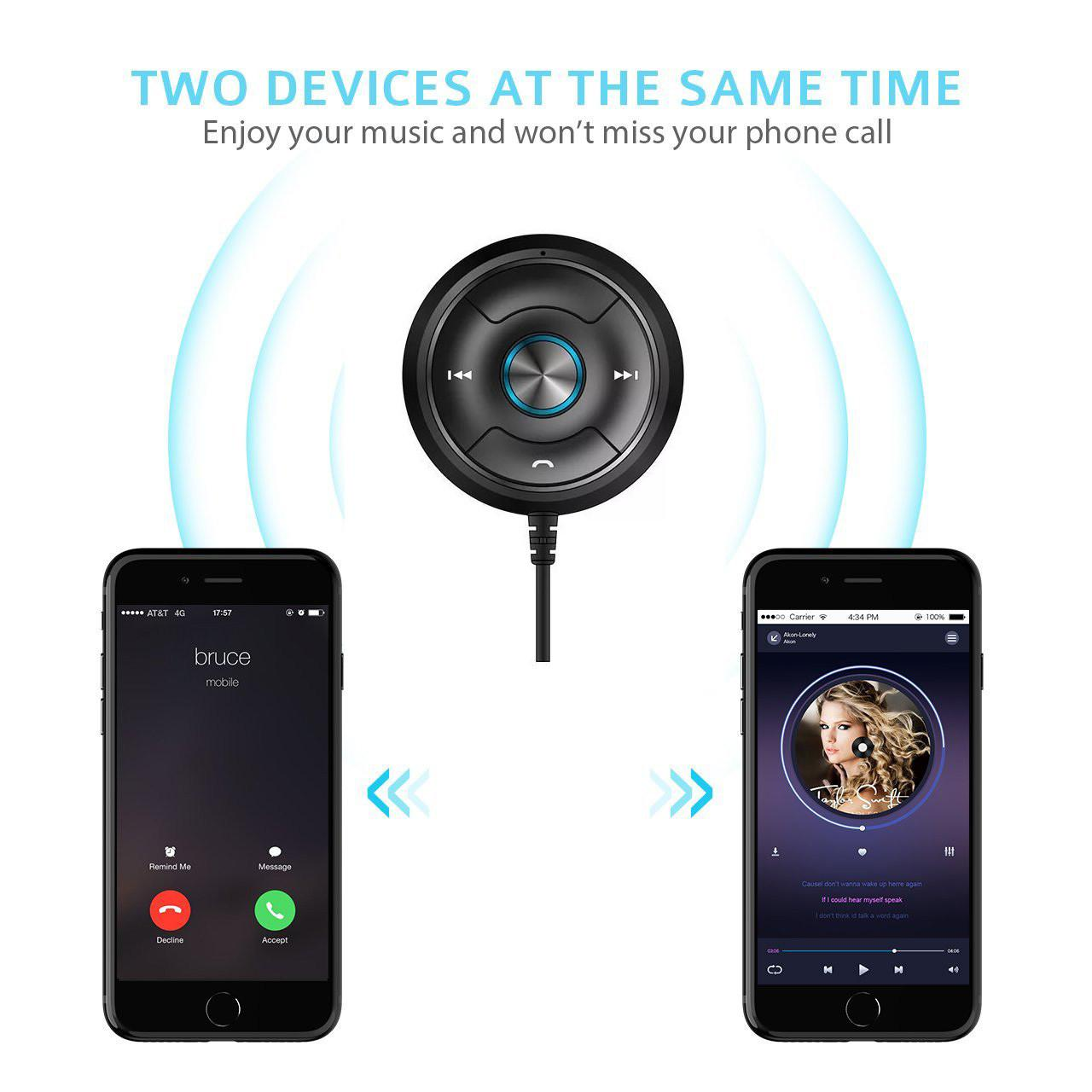 Buy cheap Via-Link Bluetooth Car Kit Hands-Free Wireless Talking & Music Streaming Receiver with Dual Port USB Car Charger from wholesalers