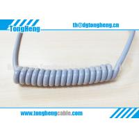 Buy cheap Glossy Gray Colour Long Flex Life TPU Coated Customized Coil Cable from wholesalers