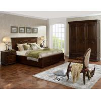 Buy cheap Strong good quality Wooden Beds set with open Door wardrobe custom in Villa and from wholesalers