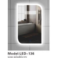 Buy cheap Contemporary Touch Led Bathroom Mirror 600 , Touch Light Vanity Mirror With LED Lights from wholesalers