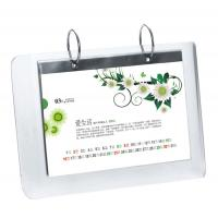 Buy cheap 5mm OEM White Country Acrylic Calendar Holder / Plexiglass Desk Stand SGS product