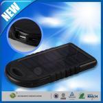 Buy cheap Dual USB Port Backup Power Bank , 5000mAh Solar Panel Backup External Battery from wholesalers