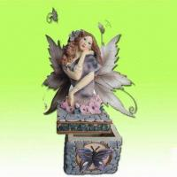 Buy cheap Polyresin Fairy Trinket in Box Well Design, Suitable for Home Decor from wholesalers
