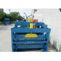 Buy cheap Color Trapezoidal IBR Steel Roof Roll Forming Machine Hydraulic Cutting Device from wholesalers