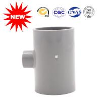 Buy cheap UPVC Reducing Tee Pipe Fitting 50*20 For Clear Water Building , Pvc Pipe Joints Couplings from wholesalers