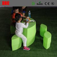Buy cheap Prismatic Table and Stool Set / Plastic Outdoor Furniture For Kindergarten from wholesalers