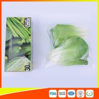 Buy cheap Resealable LDPE Clear Ziplock Freezer Storage Bags For Vegetable from wholesalers