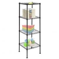 Buy cheap Living Room Basic 4 Tier Home Wire Shelving Units / Chrome Wire Kitchen Shelving  from wholesalers