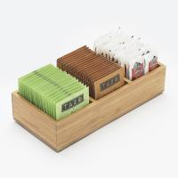 Buy cheap 3 compartment bamboo kitchen packet condiment holder from wholesalers