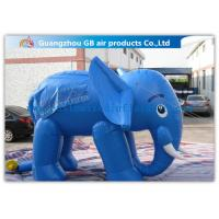 Buy cheap Lovely Blue Large Inflatable Elephant Inflatable Animals 0.45mm PVC For Exhibition from wholesalers