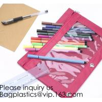 Buy cheap Stationery products Pencil Pouch Pvc Portable Pencil Case For Students,3 Ring Binder Zippered Pencil Pouches with Clear from wholesalers