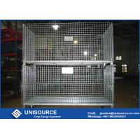 Buy cheap Durable Welded Steel Wire Storage Cages , Industrial Stackable Pallet Cages from wholesalers
