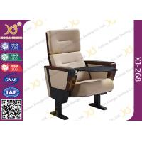 Buy cheap Elegant Foldable High Back Church Hall Chairs Stain Proof With Writing Tablet from wholesalers