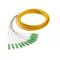 Buy cheap SC 12 Cores Waterproof Fiber Optic  Patch Cord , 1m - 5m  Fanout Fiber Optic Pigtail from wholesalers