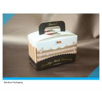 Buy cheap Beautiful And Attractive Cake Packaging Paper Box Packaging With Take Away Handle from wholesalers