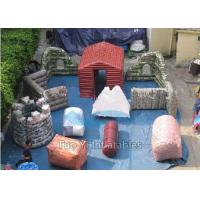 Buy cheap Fire Proof PVC Inflatable Paintball Bunkers For Military Laser Tag Arena from wholesalers