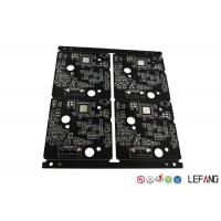 Buy cheap Burglar Alarm High Frequency PCB , Quick Turn Pcb Fabrication 4 Layers Black product