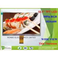 Buy cheap Thin Thickness Rgb Lcd Screen , RGB 50 Pin 10.1 Inch Lcd Screen 250cd / M² Brightness product