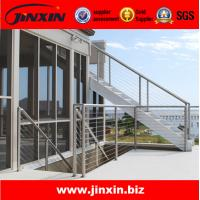 Quality Stainless steel outdoor metal staircase for glass railing for sale