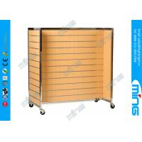 Buy cheap 4 Sides Slatwall Display Shelving Racks Melamine Lamianted Finish from wholesalers