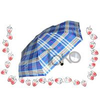Travel Size Sturdy Compact Umbrella Nylon Fabric 5 Section Aluminum Shaft