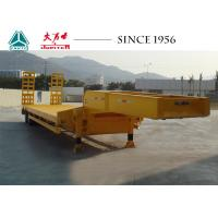 Buy cheap 30 Tons 2 Axles Custom Lowboy Trailers Flat Deck Type With Spring Suspension from wholesalers