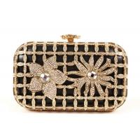 Buy cheap Gorgeous Laser Cut Metallic Hard Case Clutch Bag Luxury Beaded With Chain from wholesalers