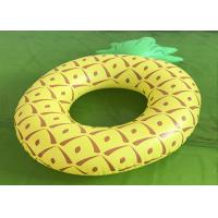 Buy cheap 0.8kg Swimming Pool Floats Yellow Pineapple Ring Float PVC Material from wholesalers