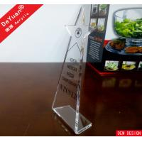 Buy cheap Blank Trophy Clear Acrylic Trophies And Awards With Silk Printing from wholesalers
