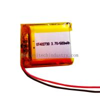 Buy cheap Good quality UT402730 Lithium Polymer Battery With 380mAh li-polymer battery from wholesalers