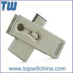 Buy cheap Rectangle Rotating USB 3.1 USB-C Dual Usb Port Usb 3.0 Flash Memory from wholesalers