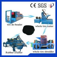 Buy cheap Rubber Waste Tire Recycling Machine 80 Mesh Custom With 380V 50Hz from wholesalers