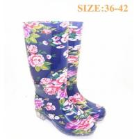 Buy cheap Stylish Womens Rain Boot , Floral Size 39 - 40 24.4cm Sole For Women / Girls from wholesalers