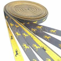 Buy cheap Professional Hight quality metallic custom woven horse design gifts ribbon from wholesalers