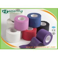 Buy cheap Cotton Coloured Athletic Sports Tape , GYM Ankle / Knee Strapping Tape Joints Protector from wholesalers