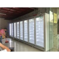 Buy cheap Green & Health Chain Store Glass Door Freezer For Frozen Food With Fan Cooling from wholesalers