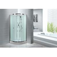 Buy cheap Spacious Extra White Glass Shower Cabins For Country Clubs / Real Estate Property from wholesalers