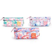 Buy cheap Custom Fabric Student Pencil Pouches 2 Pockets Zipper Closure Large Capacity from wholesalers