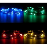 Buy cheap CR2032 Battery Operated 2m Colorful Micro LED Copper Wire String Lights For Christmas, Party, Festival Decoraction from wholesalers