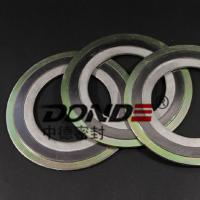 Buy cheap Spiral Wound Gasket with inner and outer ring metal gasket from wholesalers